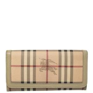 محفظة كونتيننتال بربري كاروهات هاي مارك بيج
