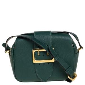 Burberry Green Leather Small Medley Buckle Crossbody Bag