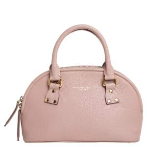 Burberry Pink Grained Leather Small Bloomsbury Heritage Satchel