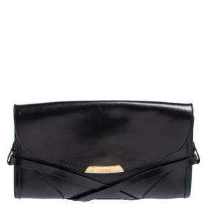 Burberry Black Leather Katherine Crossbody Bag