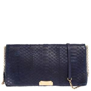 Burberry Blue Python Mildenhall Shoulder Bag