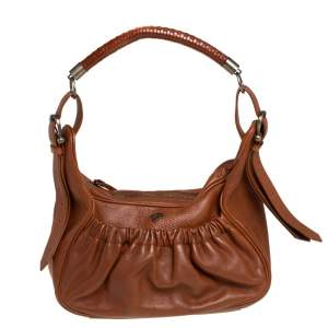 Burberry Prorsum Brown Leather Front Pocket Hobo