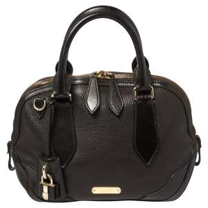 Burberry Dark Brown Leather Small Orchard Bowler Bag