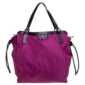 Burberry Pink Nylon Buckleigh Shopper Tote