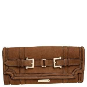 Burberry Brown Nubuck Leather Margot Clutch