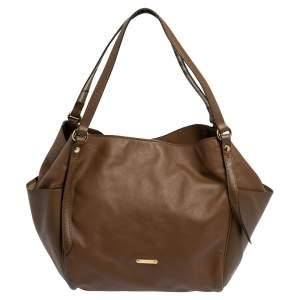 حقيبة يد توتس بربري كانتربري جلد بنية