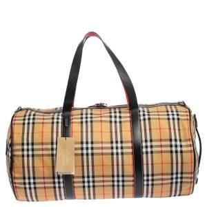 Burberry Multicolor Vintage Check Canvas Kennedy Duffel Bag