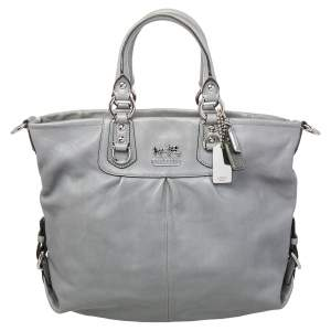 Coach Grey Leather Madison Julianne Tote