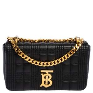 Burberry Black Leather Mini Lola Chain Crossbody Bag