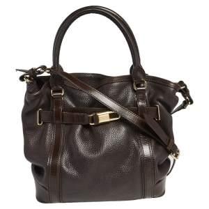 Burberry Brown Leather Medium Golderton Tote