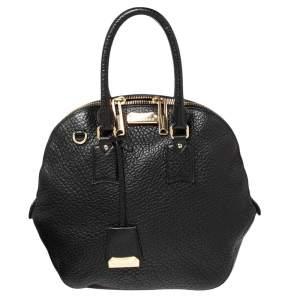 Burberry Black Leather Medium Orchard Bowler Bag