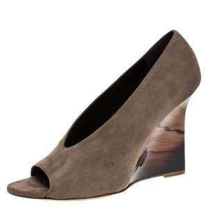 حذاء كعب عالي بربرى كعب روكي ريارد سويدى رمادي مقاس 40.5