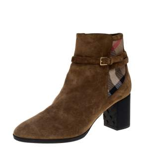 Burberry Brown Suede Stebbingford Boots Size 38