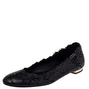 Burberry Black Leather Ballet Flats Size 39