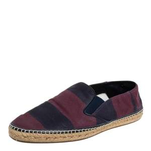 Burberry Red/Purple Canvas Espadrille Flats Size 44