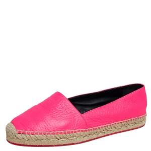 حذاء فلات إسبادريل بربري جلد وردي مقاس 38