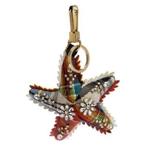 Burberry Multicolor Wool and Leather Starfish Bag Charm