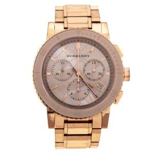 Burberry Beige Rose Gold Plated Stainless Steel Classic BU9702 Women's Wristwatch 39 mm