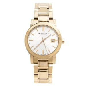 Burberry Silver Gold Tone Stainless Steel BU9103 Women's Wristwatch 34 mm