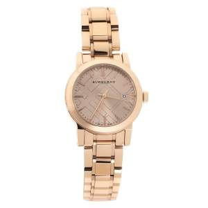 Burberry Rose Gold Tone Stainless Steel The City BU9109 Women's Wristwatch 35 mm