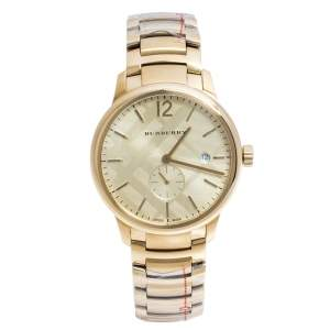 Burberry Gold Plated Steel BU10006 The Classic Round Gold Mantel Women's Wristwatch 40 mm