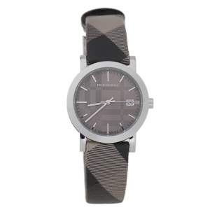 Burberry Grey Stainless Steel Heritage BU1774 Unisex Wristwatch 38 mm
