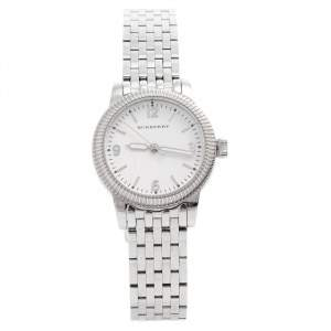 Burberry White Stainless Steel The Utilitarian BU7856 Women's Wristwatch 30 MM