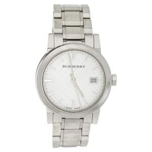 Burberry Silver Stainless Steel BU9100 Women's Wristwatch 34 mm