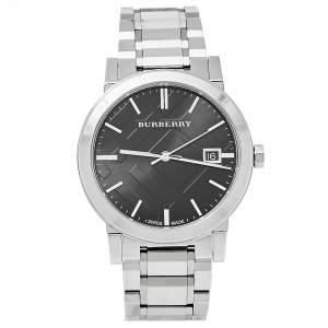 Burberry Black Stainless Steel The City BU9001 Unisex Wristwatch 38 mm