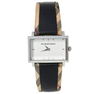 Burberry Silver Stainless Steel Nova Check Heritage BU2150 Women's Wristwatch 32 mm