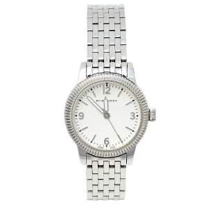 Burberry White Stainless Steel Utilitarian BU7856 Women's Wristwatch 30 MM