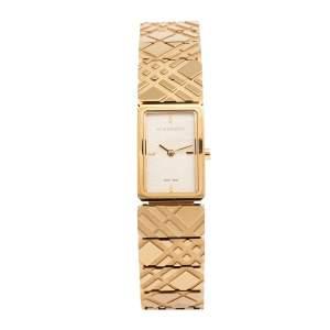 ساعة يد نسائية بربري شيك بي يو5502 ستانلس ستيل مطلي ذهبي 19 مم