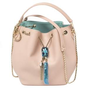 Bvlgari Pink Leather Serpenti Forever Bucket Bag