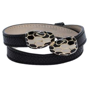 Bvlgari Black Serpenti Forever Karung Skin Multi Coiled Bracelet
