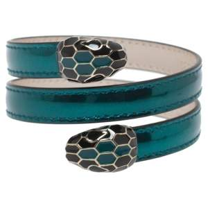 Bvlgari Metallic Green Serpenti Forever Multi-Coiled Rigid Cleopatra Bracelet