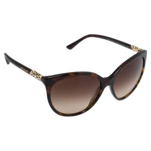 Bvlgari Havana & Crystal/ Brown Gradient 8147-B Intarsio Sunglasses