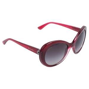 Bvlgari Burgundy Acetate 8159-B-Q Gradient Oversized Sunglasses