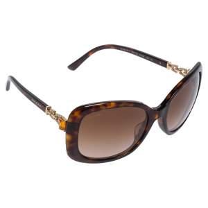 Bvlgari Brown Tortoise Acetate 8144-B-F Embellished Gradient Oversized Sunglasses