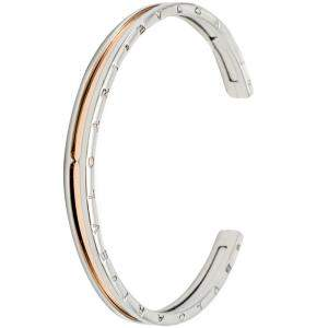 Bvlgari B.Zero 1 Steel & Rose Gold Cuff Bracelet Size M