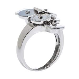 Bvlgari Cicladi 18K White Gold Ring Size 56