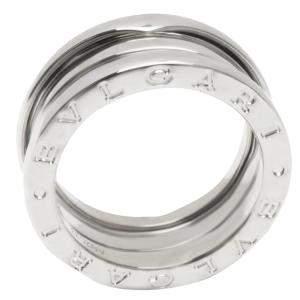Bvlgari 18K White Gold Three Band B.zero1 Ring Size 55