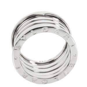Bvlgari B.zero1 18K White Gold Four Band Ring Size 56