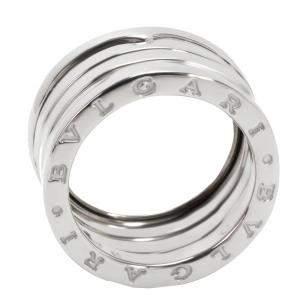 Bvlgari 18K White Gold B.zero1 Four Band Ring Size 50