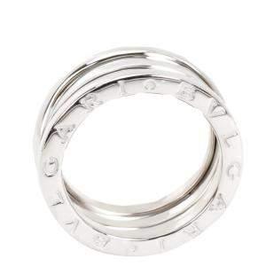 Bvlgari 18K White Gold Three Band B.Zero 1 Ring Size 52
