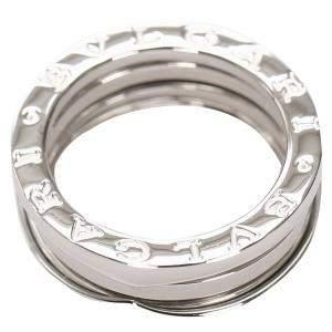 Bvlgari B.Zero1 Silver 18K White Gold Ring Size 50