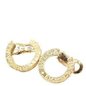 Bvlgari B.zero1 18K Yellow Gold Hoop Clip On Earrings
