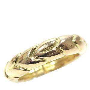 Bvlgari Spiga Wedding 18K Yellow Gold Ring Size 52