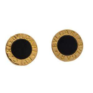 Bvlgari Yellow Gold & Onyx Bvlgari Bvlgari Earrings