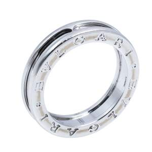 Bvlgari B.zero1 One-Band 18K White Gold Ring 56