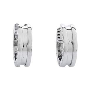 Bvlgari B.Zero1 18K White Gold Huggie Hoop Earrings